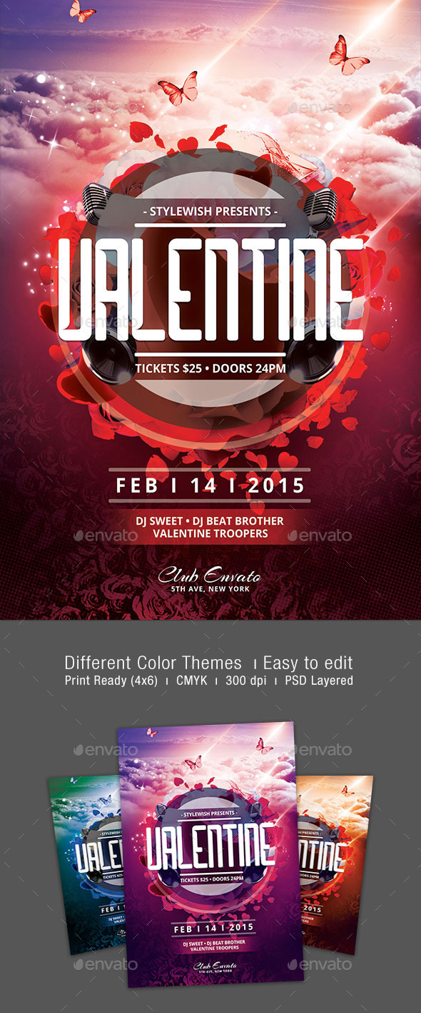 GraphicRiver Valentine Flyer 9961934