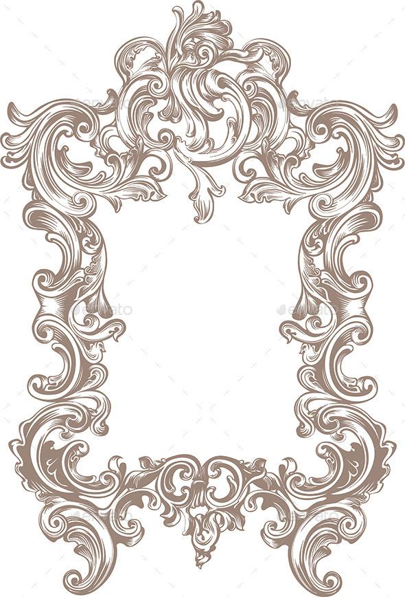 GraphicRiver Frame Baroque 9961959