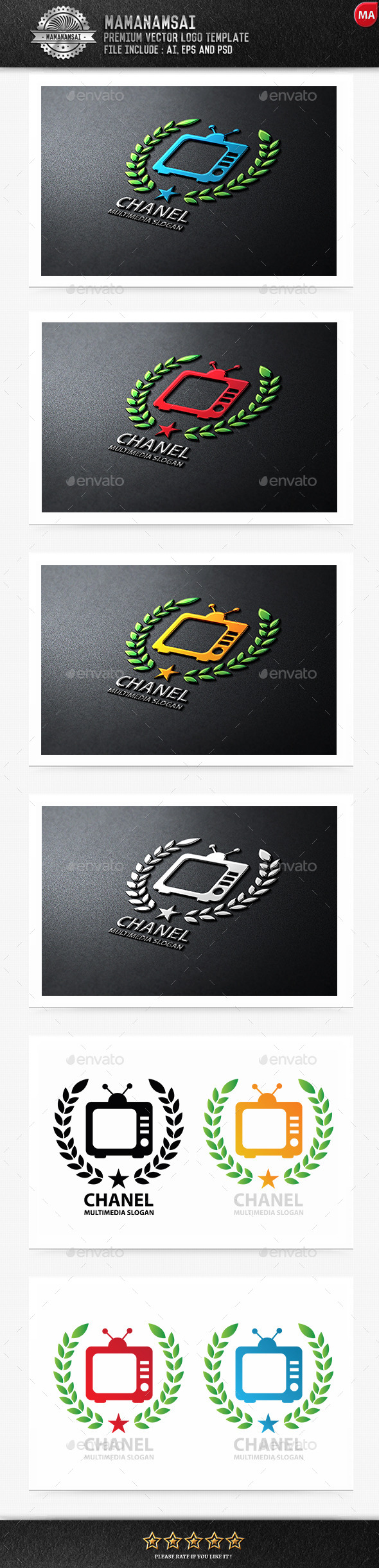 GraphicRiver TV Chanel Logo 9961964