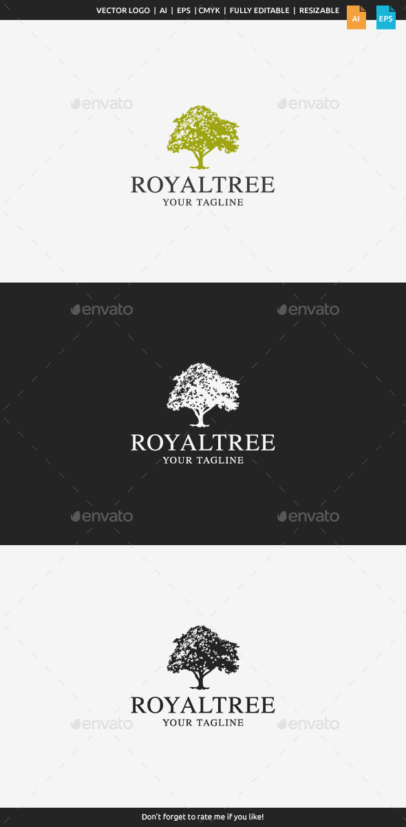 GraphicRiver Royal Tree Logo 9962156