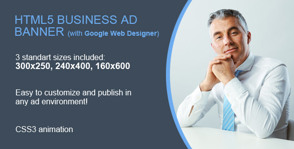 CodeCanyon HTML5 Business Ad Banner 9962338