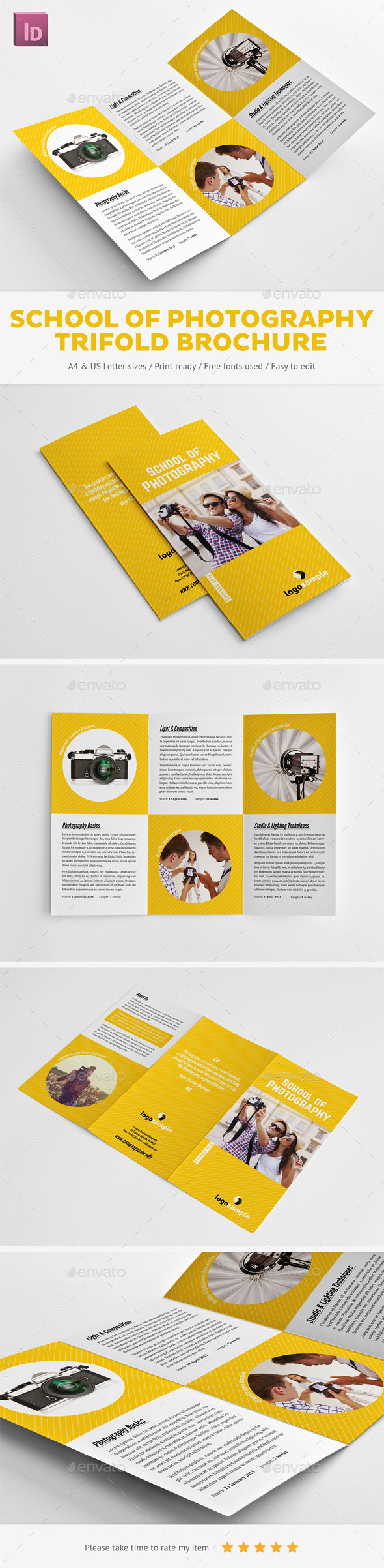 GraphicRiver School of Photography Trifold Brochure 9962466