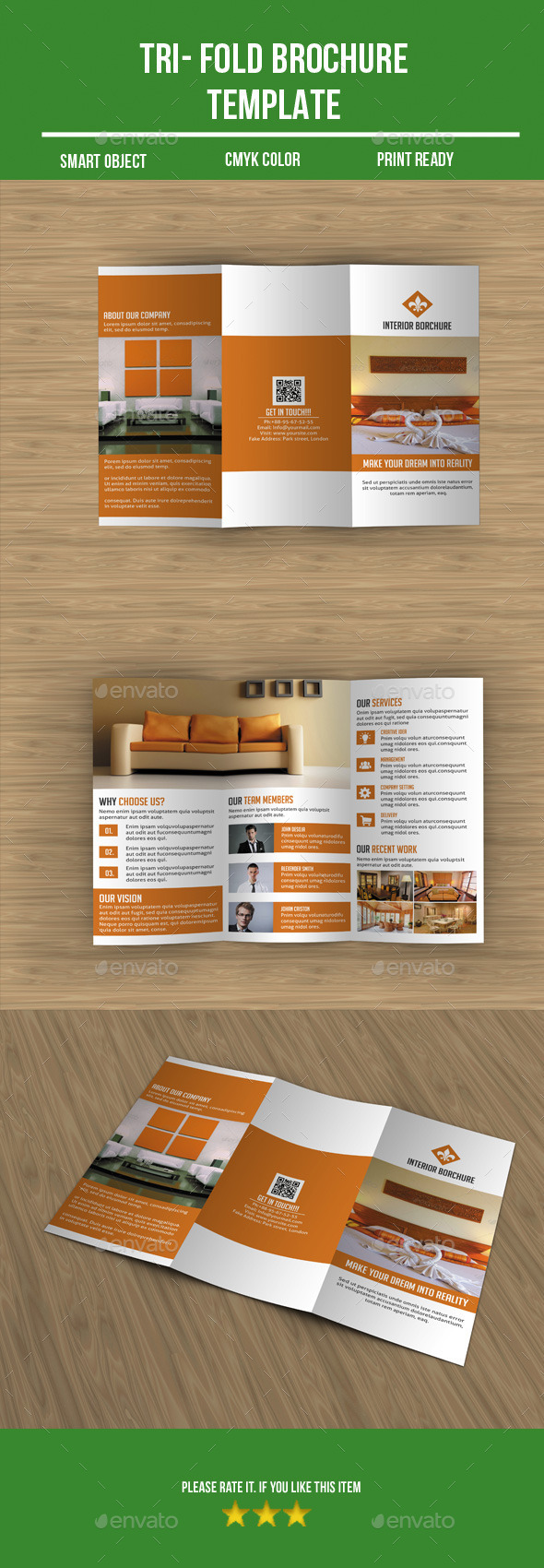GraphicRiver Interior Tri Fold Brochure 9962625