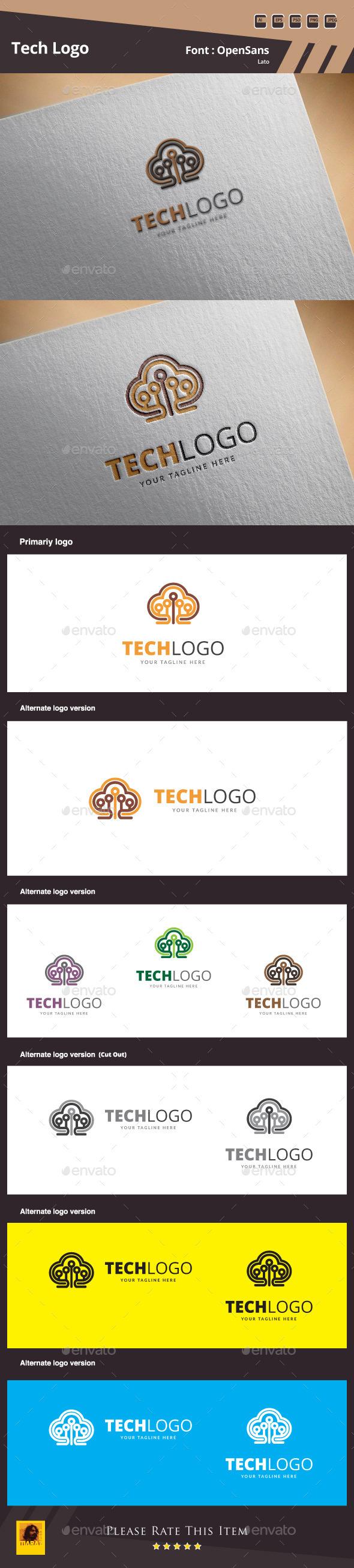 GraphicRiver Tech Logo Template 9962675