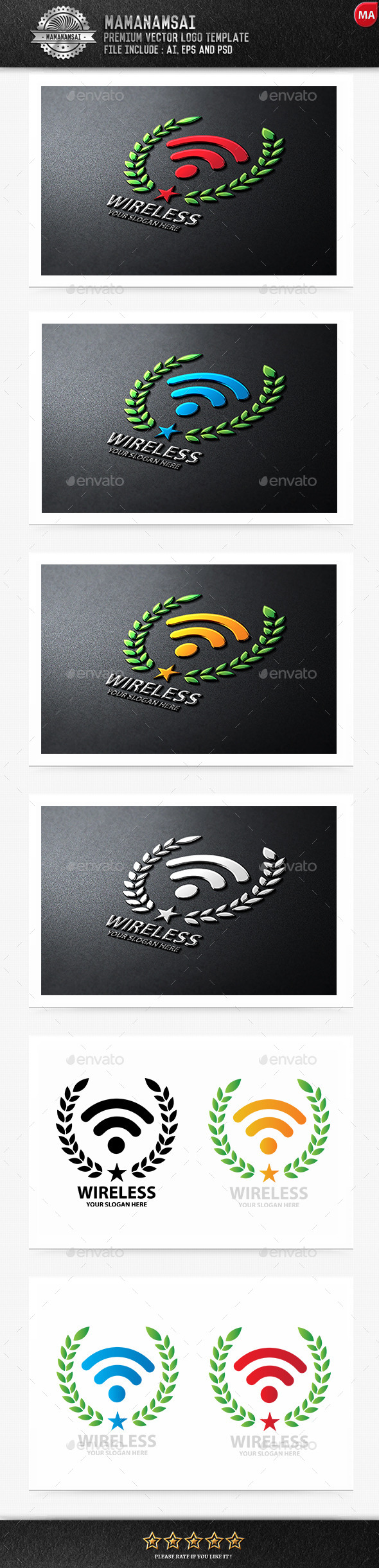 GraphicRiver Wireless Logo 9962891