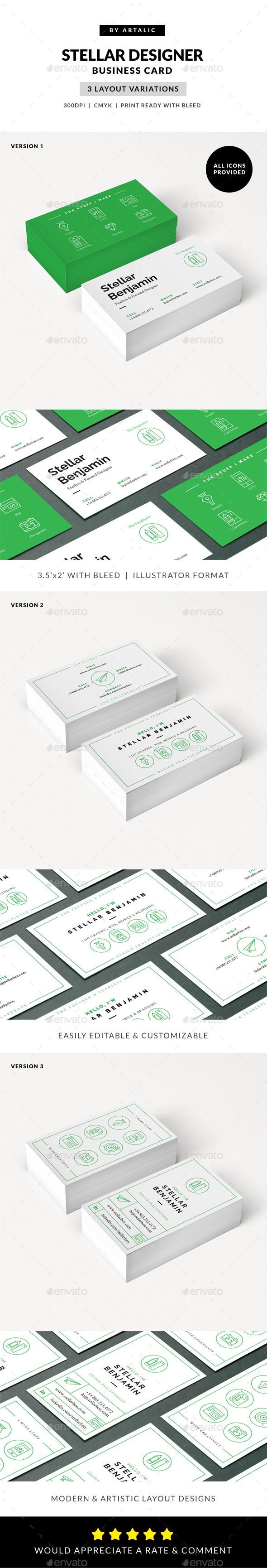 GraphicRiver Stellar Designer Card 9962893