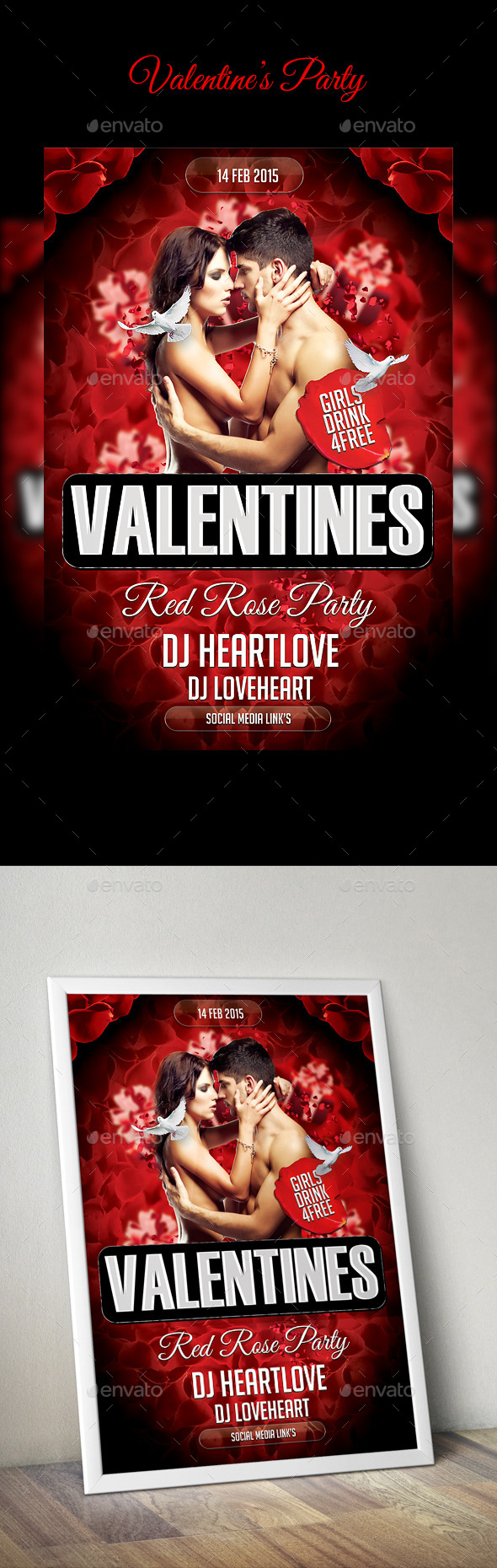 GraphicRiver Valentine s Day flyer 9954673