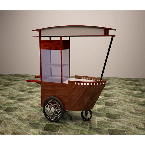 Satay Cart - 3DOcean Item for Sale