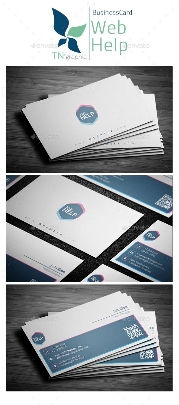 GraphicRiver WebHelp Business Card 9963020