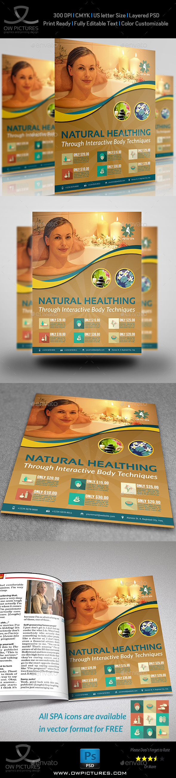 GraphicRiver SPA Beauty Flyer Template Vol.2 9963292