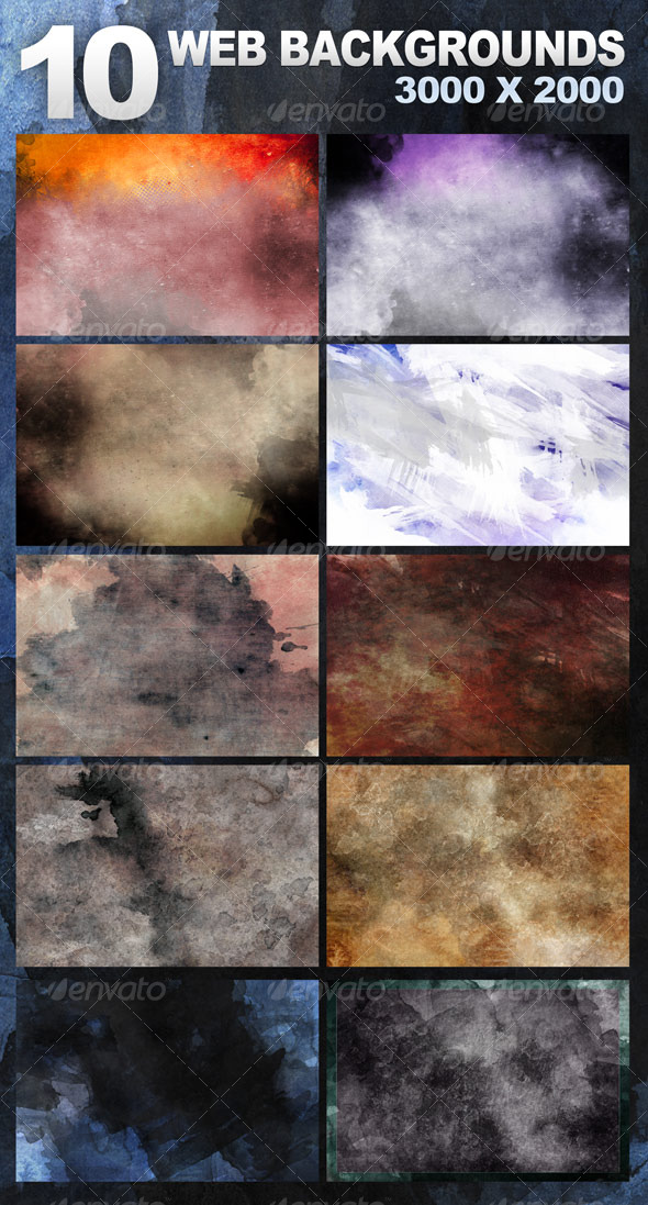10 Website Backgrounds 3000x2000