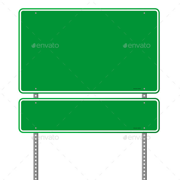 GraphicRiver Green Blank Roadsign 9963417