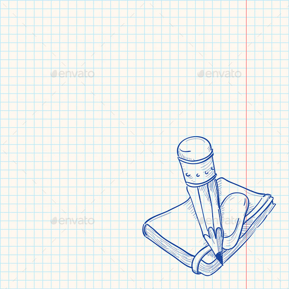 GraphicRiver Pencil and Notebook 9963448