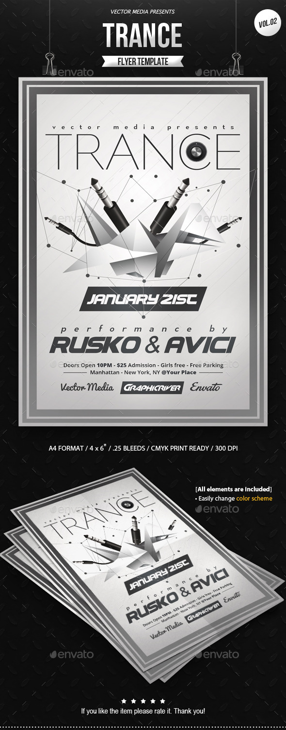 GraphicRiver Trance Flyer [Vol.02] 9954564