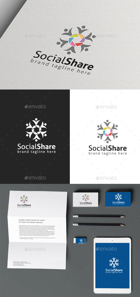 GraphicRiver Social Share 9963586