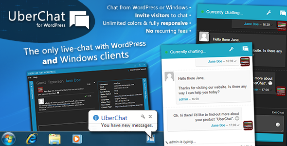 CodeCanyon Uber Chat Ultimate Live Chat with Windows Client 9963702