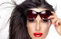 Beautiful Model Holding Fashion Sunglasses on Forehead - PhotoDune Item for Sale