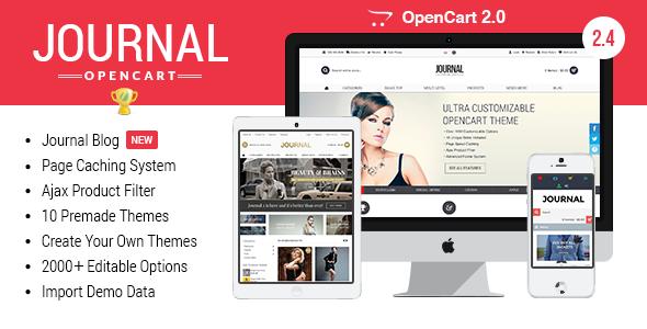 Journal - Advanced Opencart Theme Framework