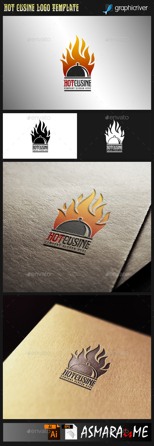 GraphicRiver Hot Cusine Hot Food logo 9965057
