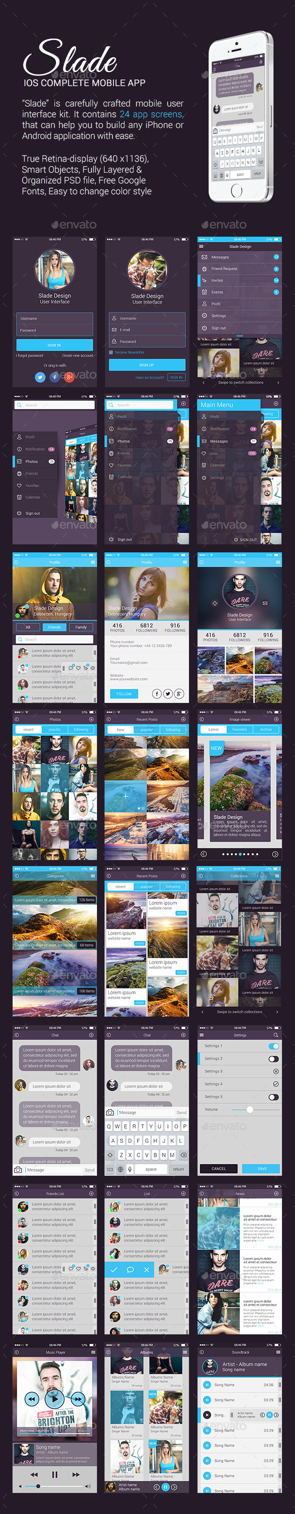 GraphicRiver Slade iOS Complete Mobile App 9965487