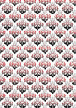 White Background with Classic Black and Red Floral Pattern - PhotoDune Item for Sale