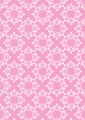Pink Seamless Background with White Floral Pattern - PhotoDune Item for Sale