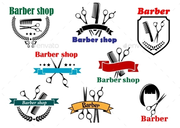 GraphicRiver Barber Shop Signboard Designs 9965808