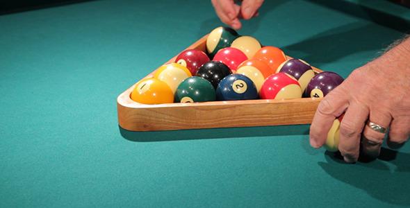 Pool Table Racking Up Balls