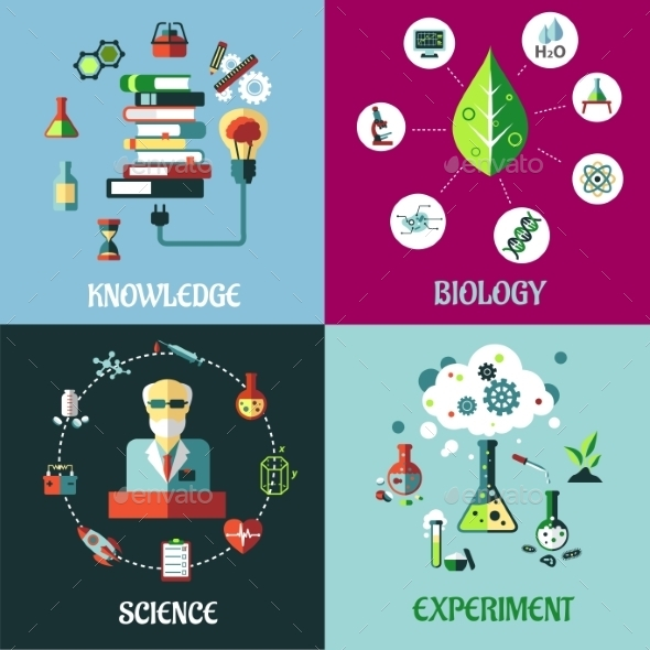GraphicRiver Science Experiment and Knowledge Concepts 9965823
