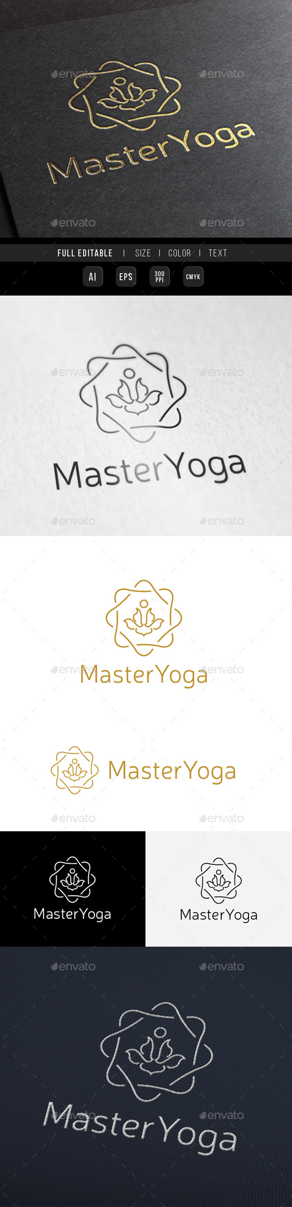 GraphicRiver Guru Master Yoga King 9965890