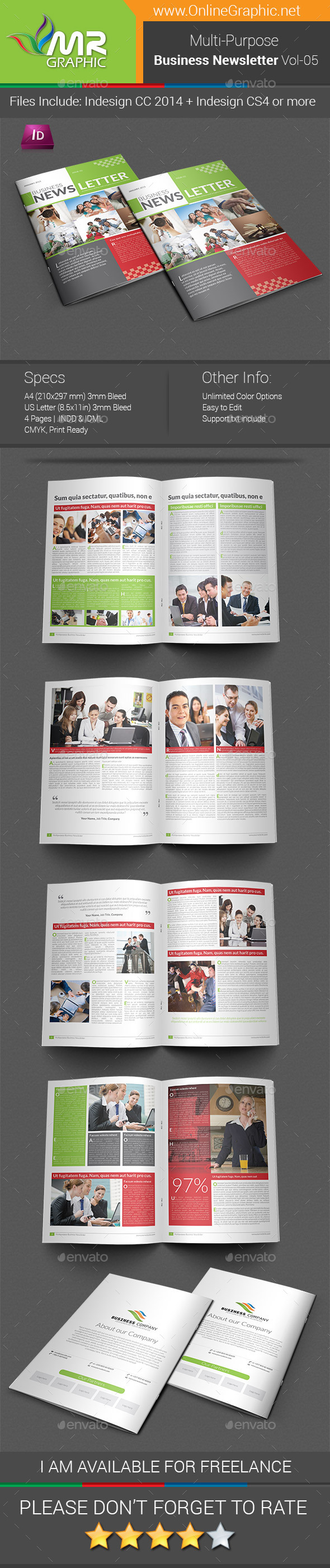 GraphicRiver Multipurpose Business Newsletter Template Vol-05 9965895