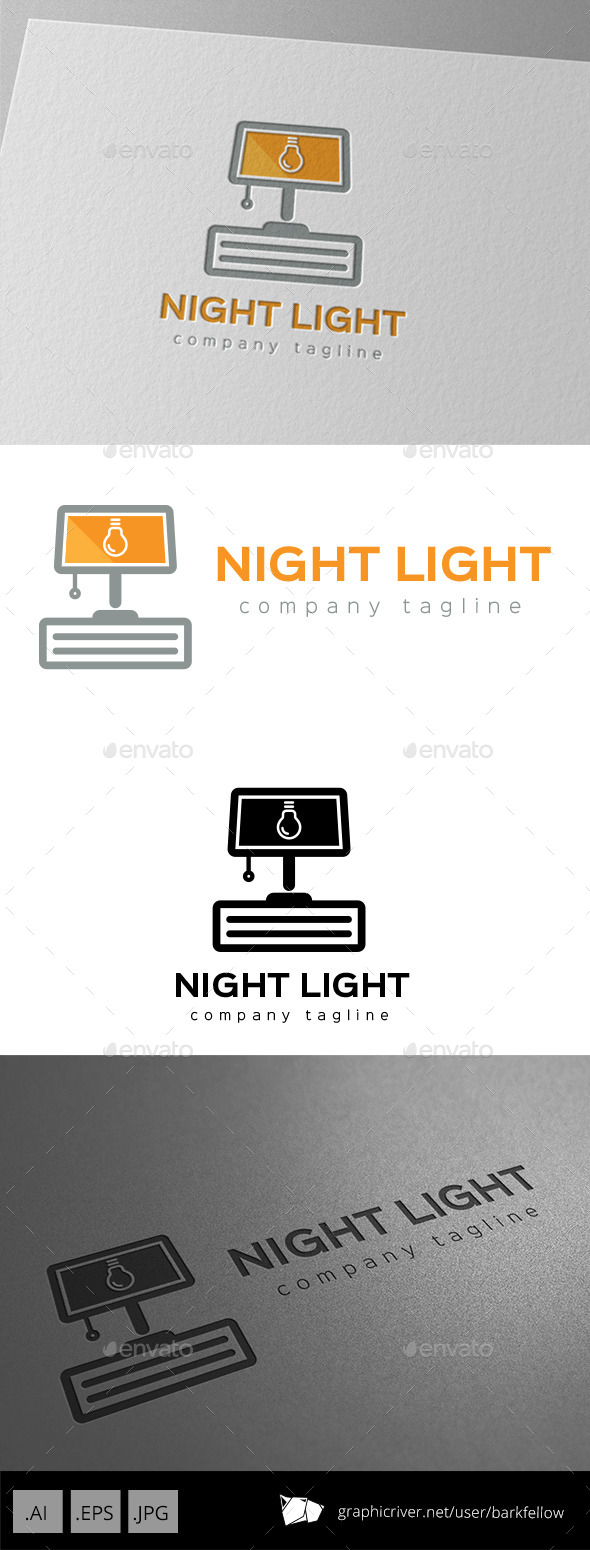 GraphicRiver Night Lamp Light Logo 9966196