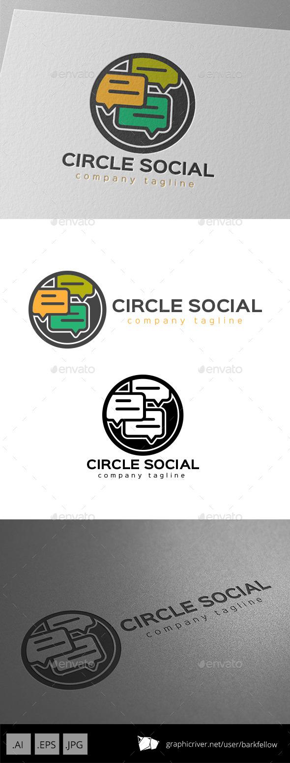 GraphicRiver Circle Social Chat Logo 9966204