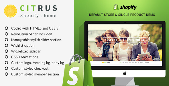 Citrus one page parallax Shopify Theme is a beautifully designed Shopify Theme Perfect for stores of any kind, such as fashion, clothing, watches, jewels, digit