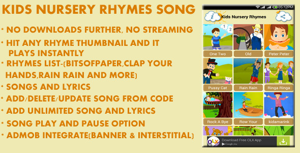 CodeCanyon Kids Nursery Rhymes Song 9966297