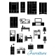 Black Wooden Furniture Icons