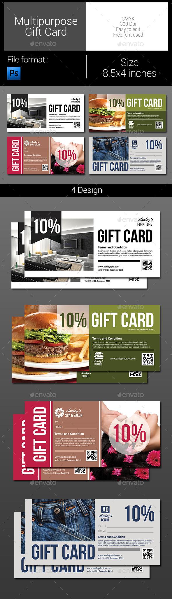GraphicRiver Multipurpose Gift Card 9966465