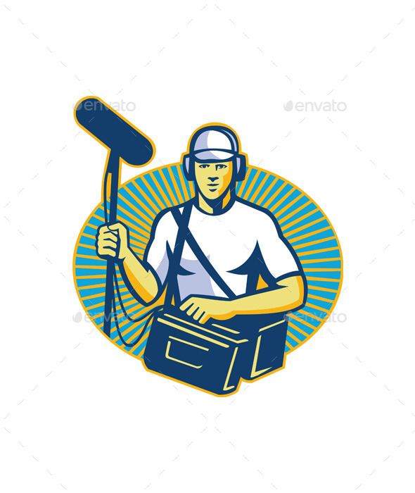GraphicRiver Soundman Worker with Microphone 9966517