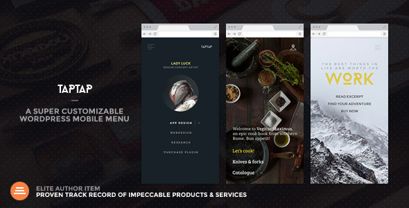 CodeCanyon TapTap A Super Customizable WordPress Mobile Menu 9966828