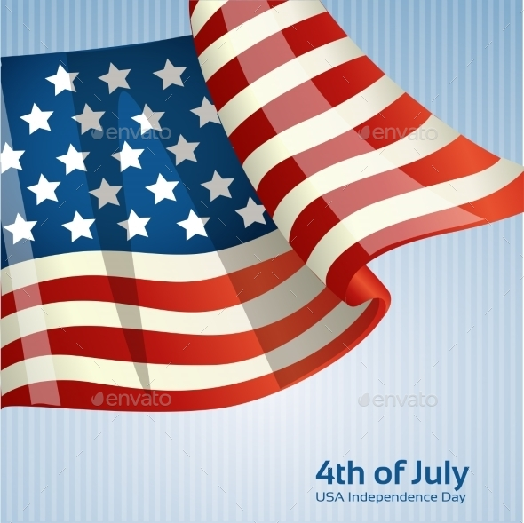 GraphicRiver Poster with the American Flag 9966835