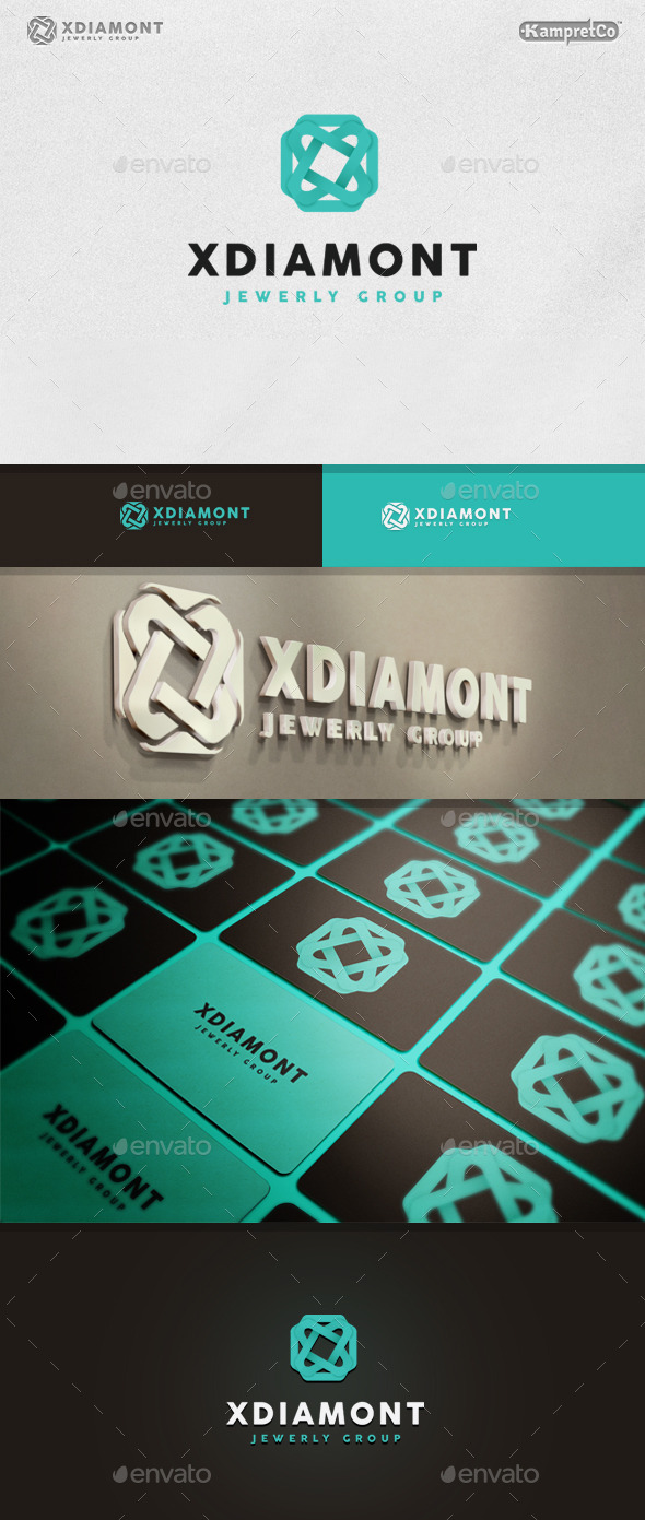 GraphicRiver Jewelry Diamond logo 9937670