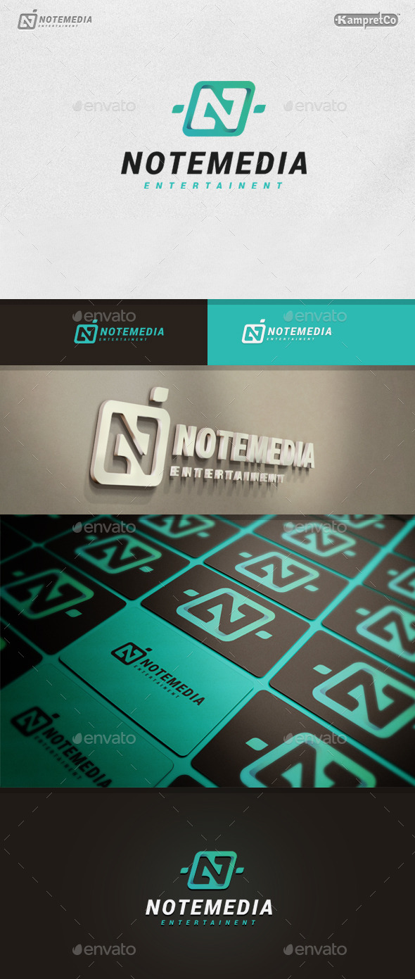 GraphicRiver Note Media Logo 9937664