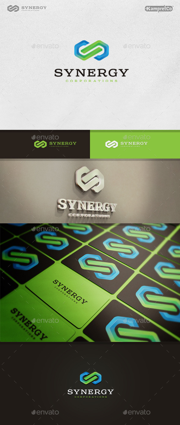 GraphicRiver Link Synergy Logo 9937663