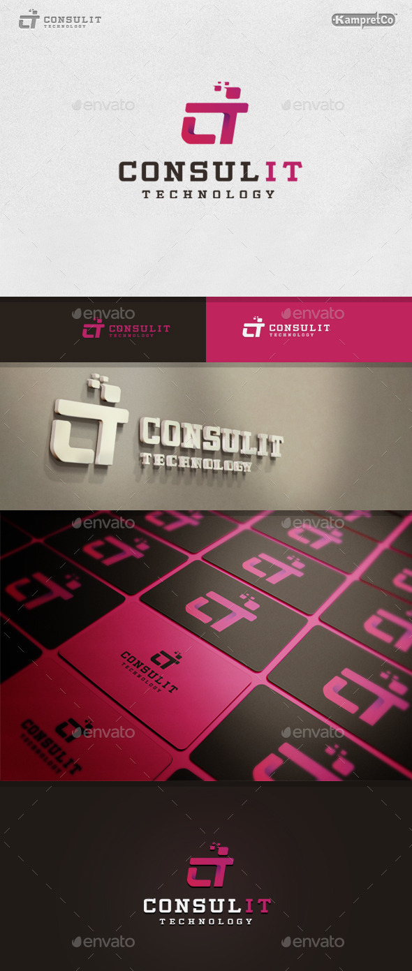 GraphicRiver IT Consult Logo 9937661