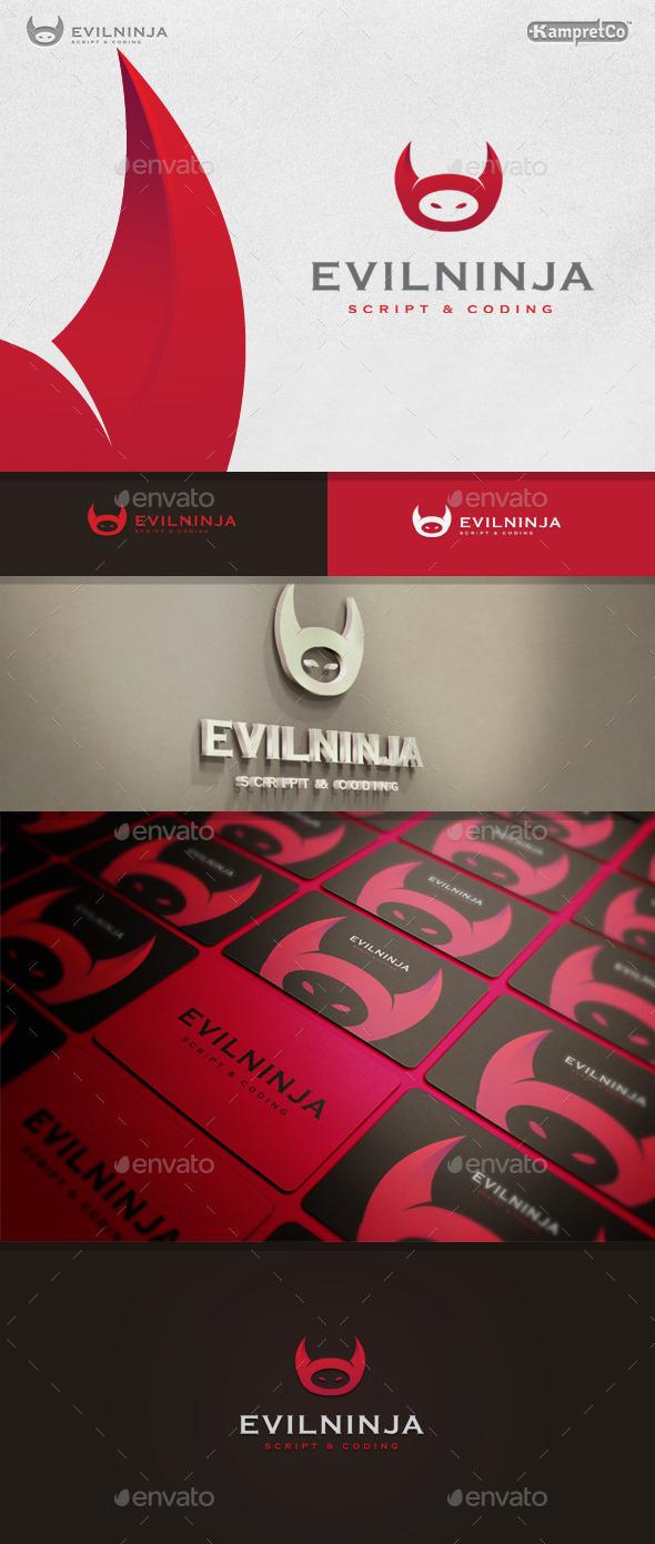 GraphicRiver Evil Ninja Logo 9937617