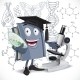 School Biology Textbook with Microscope - GraphicRiver Item for Sale