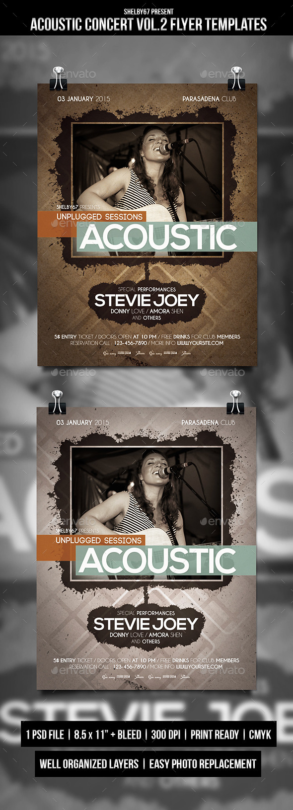 GraphicRiver Acoustic Concert Flyer Poster Vol.2 9920222