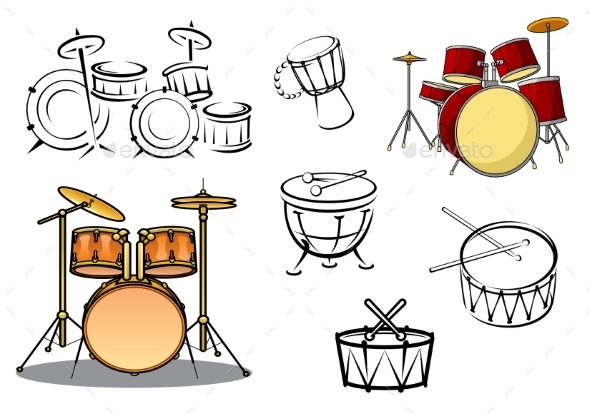 GraphicRiver Percussion Instrument Icons 9967431