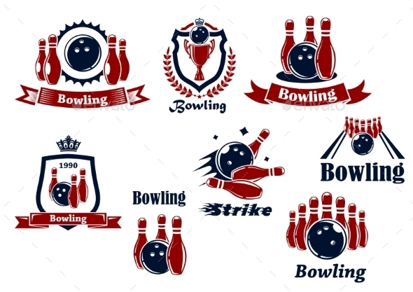 GraphicRiver Bowling Icons 9967448
