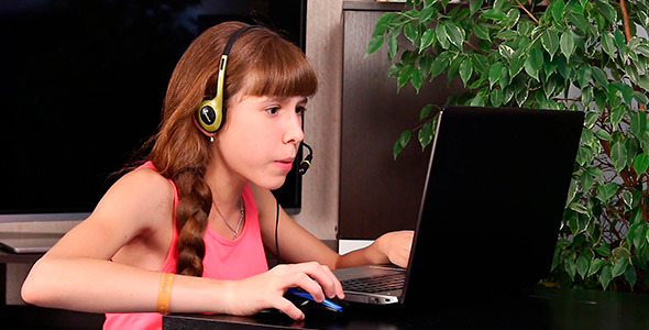 Girl Playing The Game 1